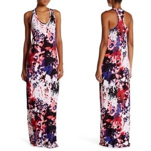 Loveappella Racerback Print Maxi Dress